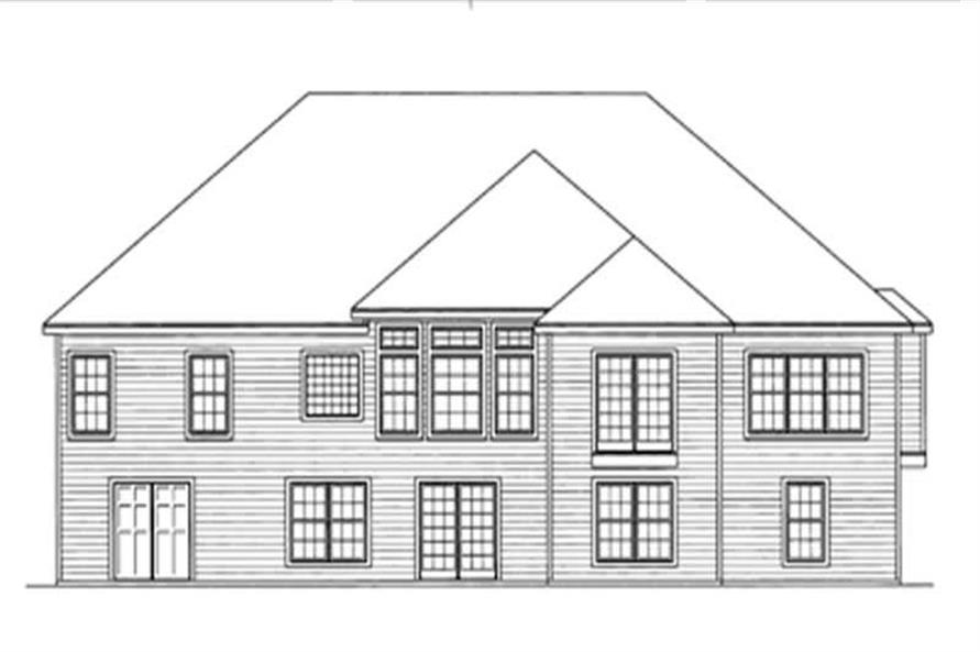 Home Plan Rear Elevation of this 4-Bedroom,2172 Sq Ft Plan -172-1010