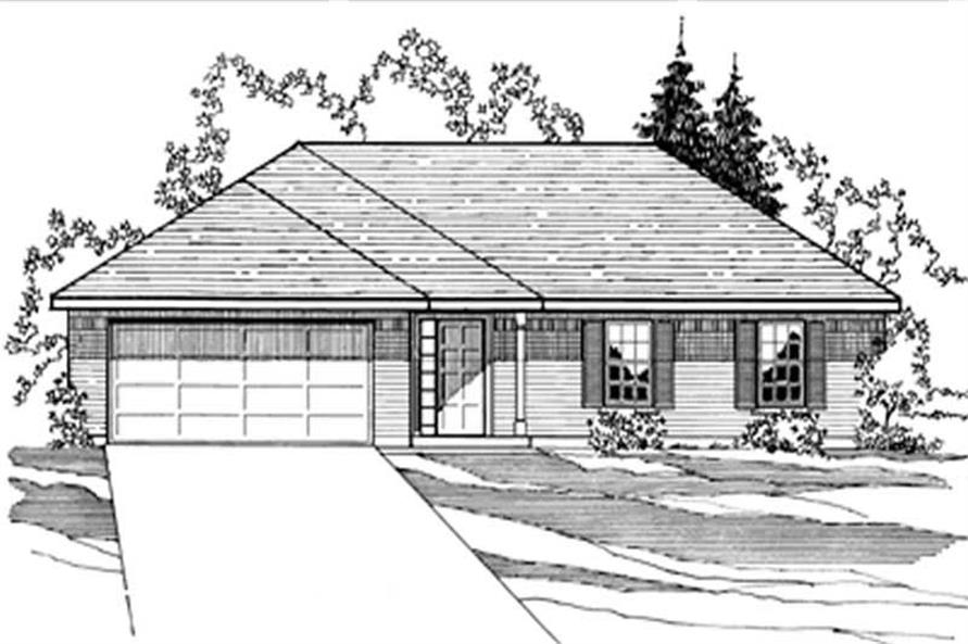3-Bedroom, 1323 Sq Ft European House Plan - 172-1011 - Front Exterior