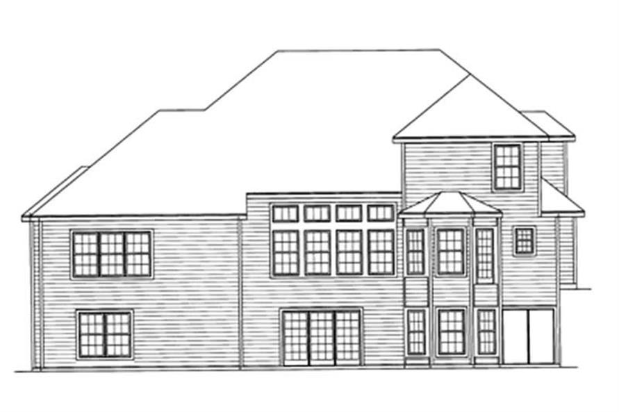 Home Plan Rear Elevation of this 4-Bedroom,2924 Sq Ft Plan -172-1012