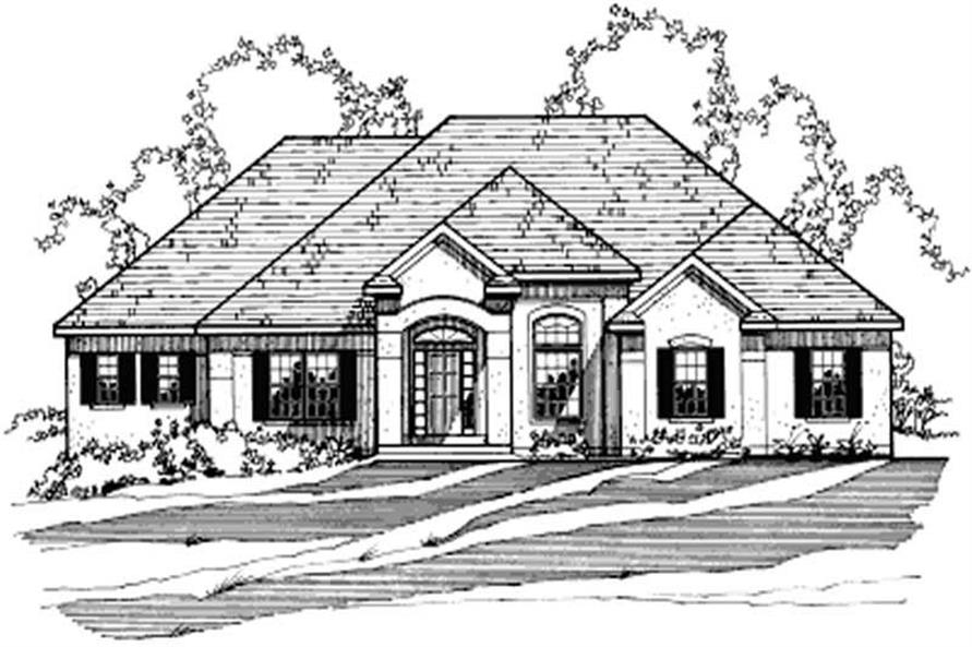 3-Bedroom, 2197 Sq Ft European House Plan - 172-1013 - Front Exterior