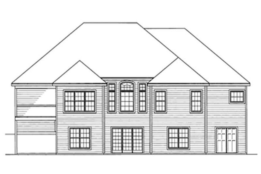 Home Plan Rear Elevation of this 3-Bedroom,2197 Sq Ft Plan -172-1013