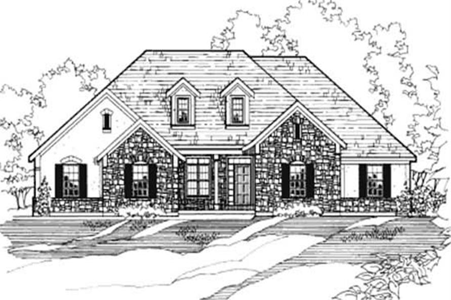 4-Bedroom, 1990 Sq Ft European House Plan - 172-1014 - Front Exterior