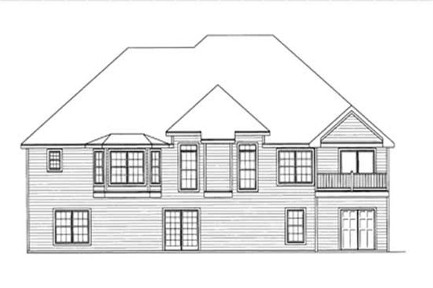 Home Plan Rear Elevation of this 4-Bedroom,1990 Sq Ft Plan -172-1014