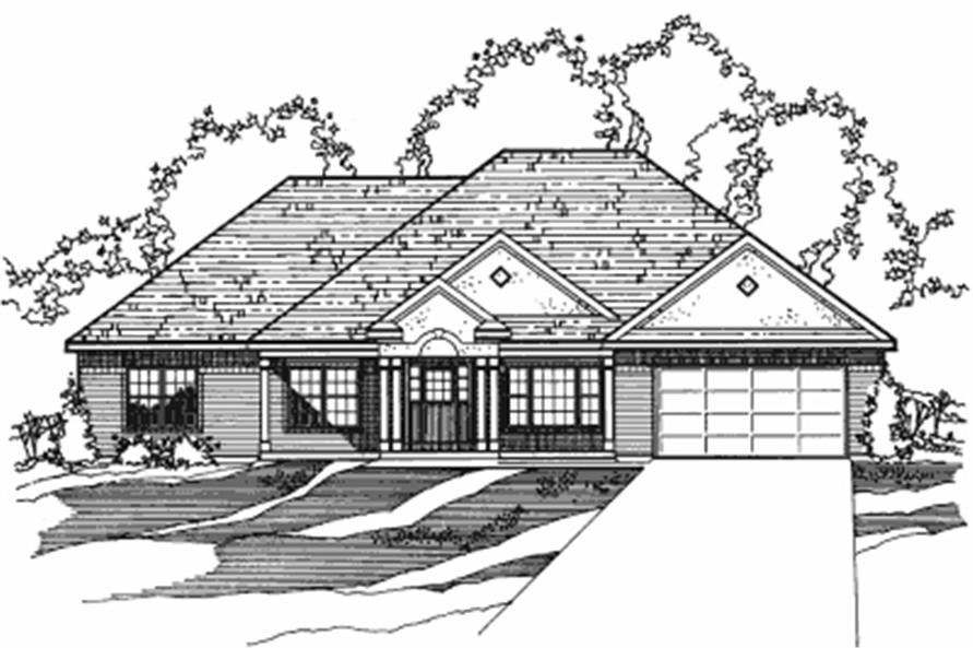 5-Bedroom, 2239 Sq Ft European House Plan - 172-1015 - Front Exterior