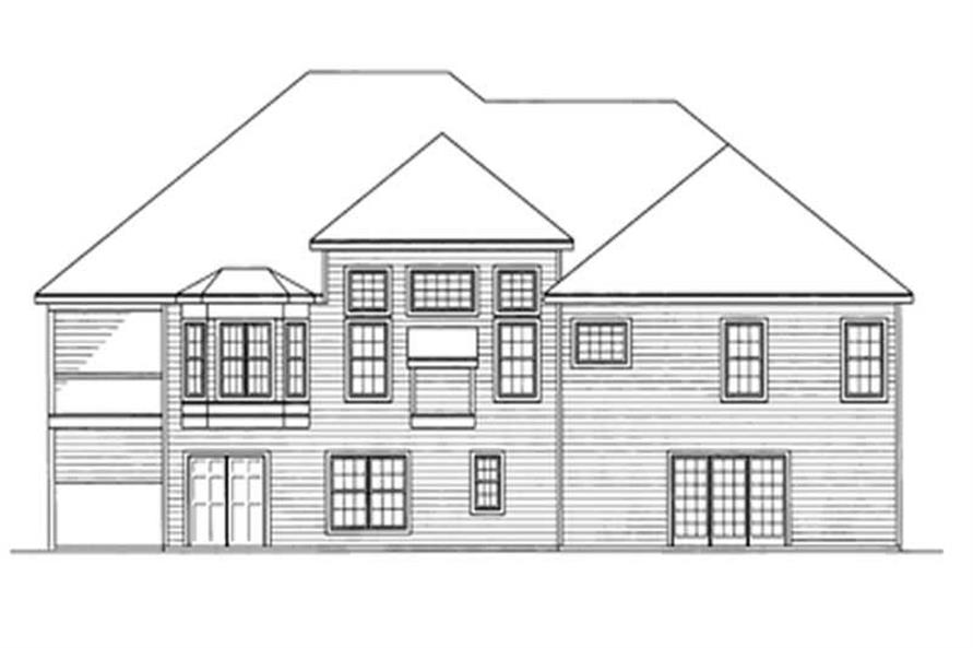 Home Plan Rear Elevation of this 5-Bedroom,2239 Sq Ft Plan -172-1015