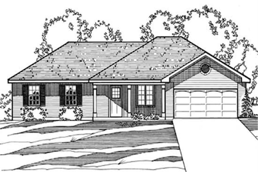 3-Bedroom, 1372 Sq Ft European House Plan - 172-1016 - Front Exterior