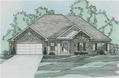 3-Bedroom, 2260 Sq Ft European House Plan - 172-1017 - Front Exterior