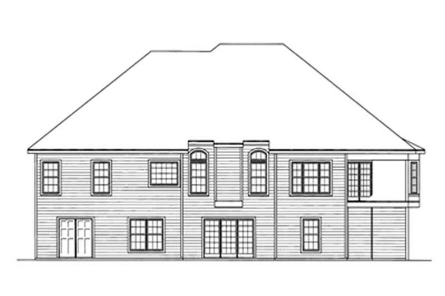 Home Plan Rear Elevation of this 3-Bedroom,2260 Sq Ft Plan -172-1017