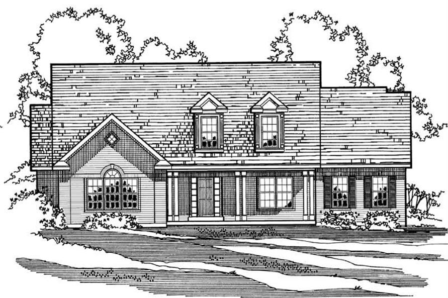 3-Bedroom, 2563 Sq Ft Colonial House Plan - 172-1018 - Front Exterior