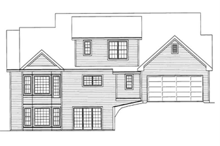 Home Plan Rear Elevation of this 3-Bedroom,2563 Sq Ft Plan -172-1018