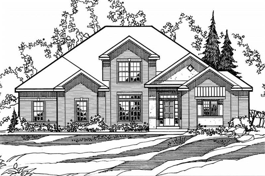 4-Bedroom, 3016 Sq Ft European House Plan - 172-1020 - Front Exterior
