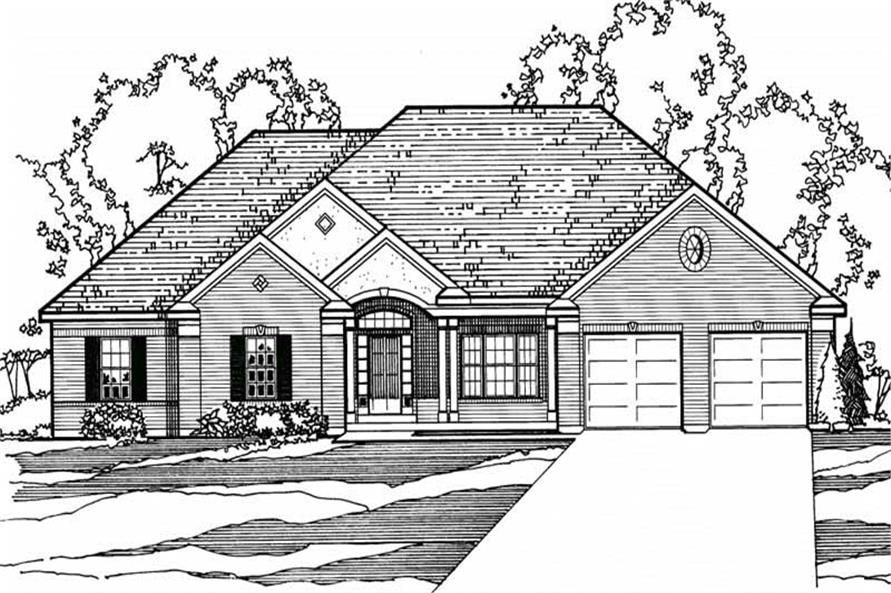 4-Bedroom, 2137 Sq Ft European House Plan - 172-1021 - Front Exterior
