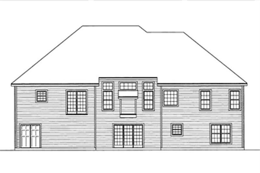 Home Plan Rear Elevation of this 4-Bedroom,2137 Sq Ft Plan -172-1021