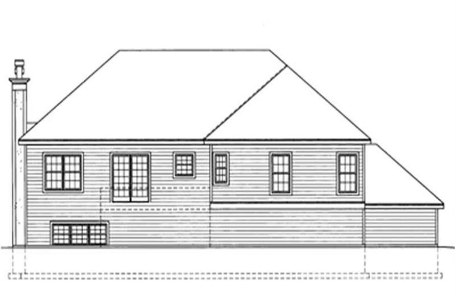 Home Plan Rear Elevation of this 3-Bedroom,1890 Sq Ft Plan -172-1022