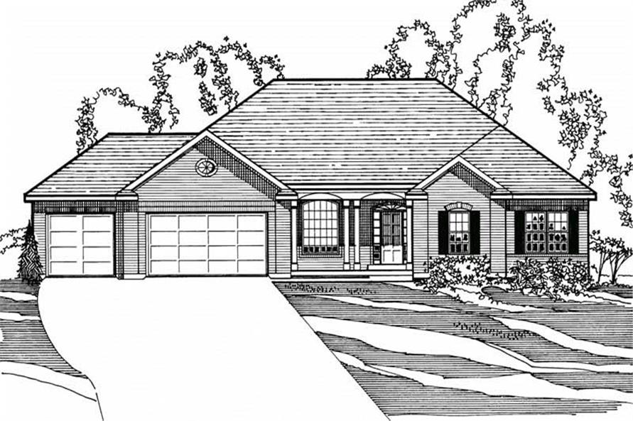 4-Bedroom, 2098 Sq Ft European House Plan - 172-1023 - Front Exterior