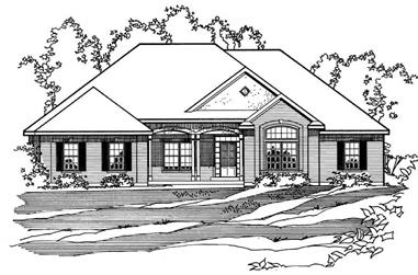 4-Bedroom, 2096 Sq Ft European House Plan - 172-1024 - Front Exterior