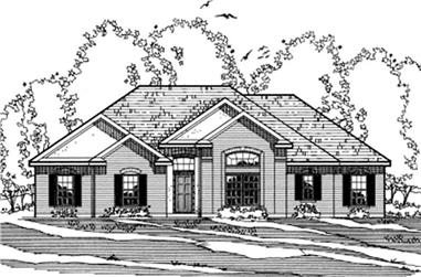 3-Bedroom, 1873 Sq Ft European House Plan - 172-1025 - Front Exterior