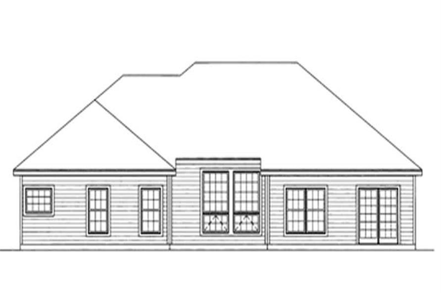 Home Plan Rear Elevation of this 3-Bedroom,1873 Sq Ft Plan -172-1025