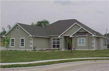 3-Bedroom, 1870 Sq Ft European House Plan - 172-1026 - Front Exterior