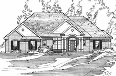 3-Bedroom, 2015 Sq Ft European House Plan - 172-1028 - Front Exterior