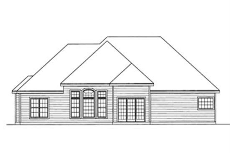 Home Plan Rear Elevation of this 3-Bedroom,2015 Sq Ft Plan -172-1028