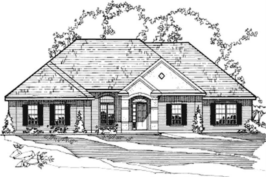 3-Bedroom, 2103 Sq Ft Contemporary House Plan - 172-1029 - Front Exterior