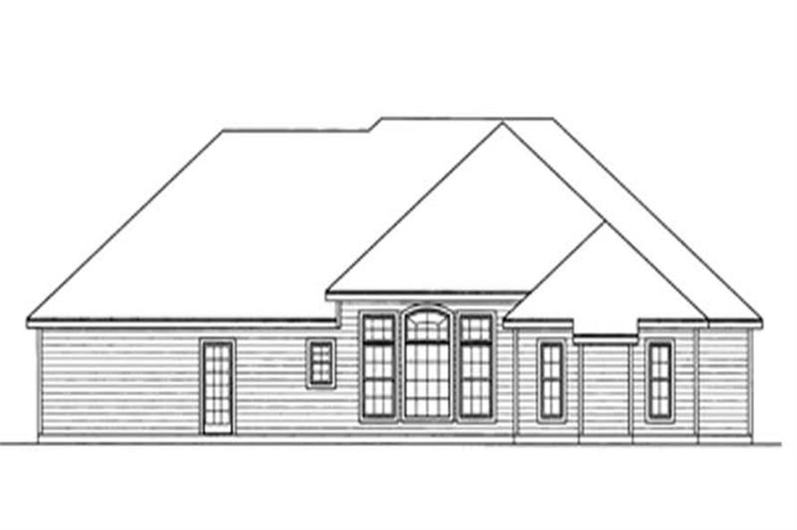 Home Plan Rear Elevation of this 3-Bedroom,2103 Sq Ft Plan -172-1029