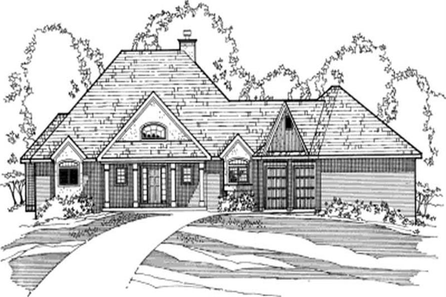 4-Bedroom, 2031 Sq Ft European House Plan - 172-1030 - Front Exterior