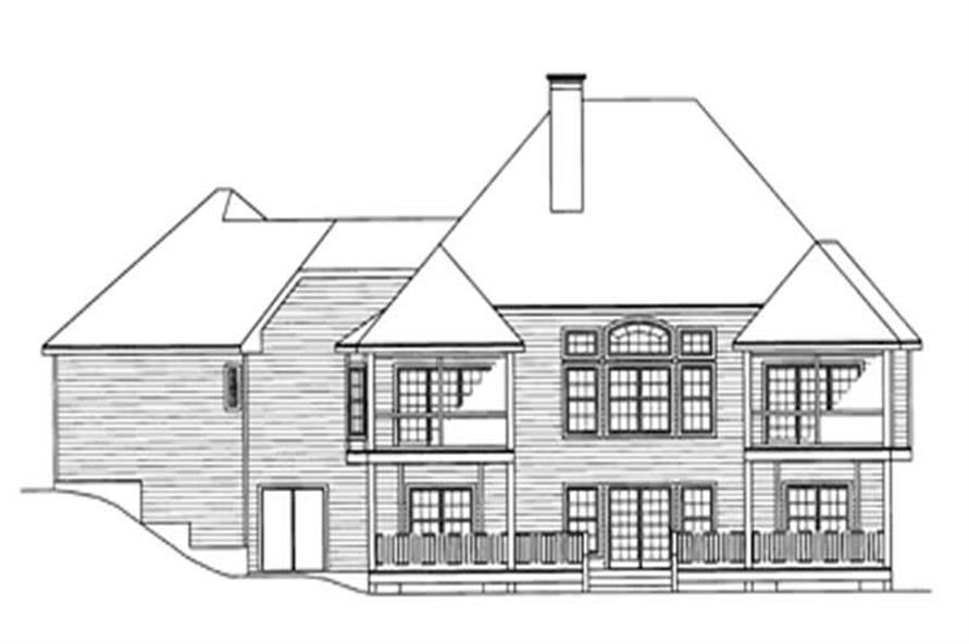 Home Plan Rear Elevation of this 4-Bedroom,2031 Sq Ft Plan -172-1030
