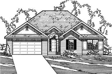 3-Bedroom, 1691 Sq Ft Contemporary House Plan - 172-1031 - Front Exterior