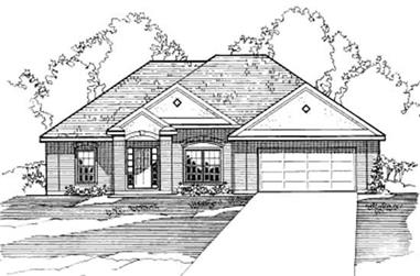 3-Bedroom, 1719 Sq Ft Contemporary House Plan - 172-1033 - Front Exterior