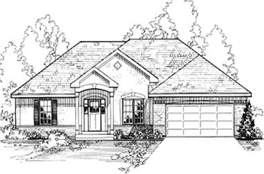 4-Bedroom, 1555 Sq Ft Contemporary House Plan - 172-1034 - Front Exterior