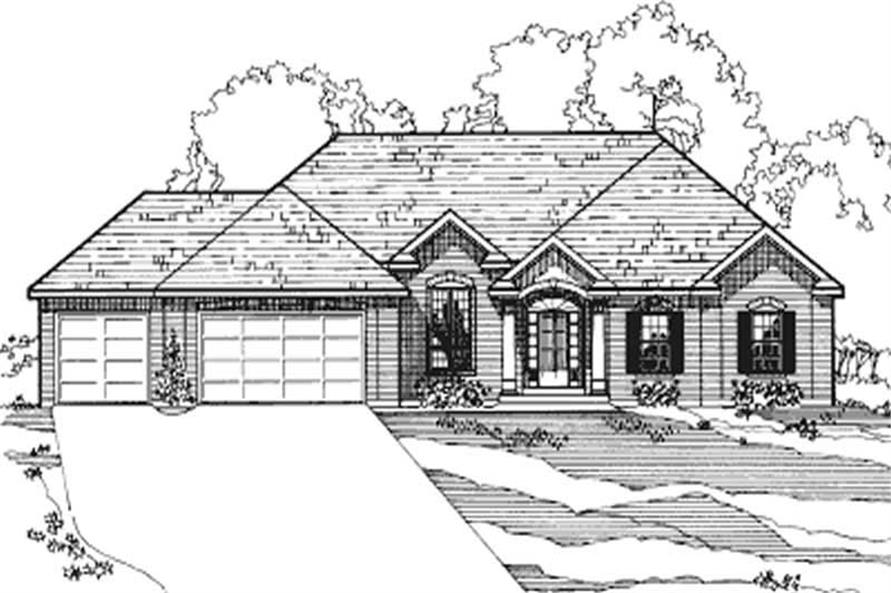 4-Bedroom, 2066 Sq Ft European House Plan - 172-1036 - Front Exterior