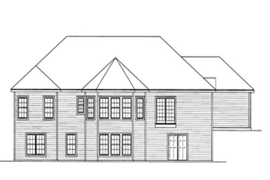 Home Plan Rear Elevation of this 4-Bedroom,2066 Sq Ft Plan -172-1036