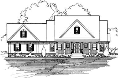 3-Bedroom, 2144 Sq Ft Farmhouse House Plan - 172-1039 - Front Exterior