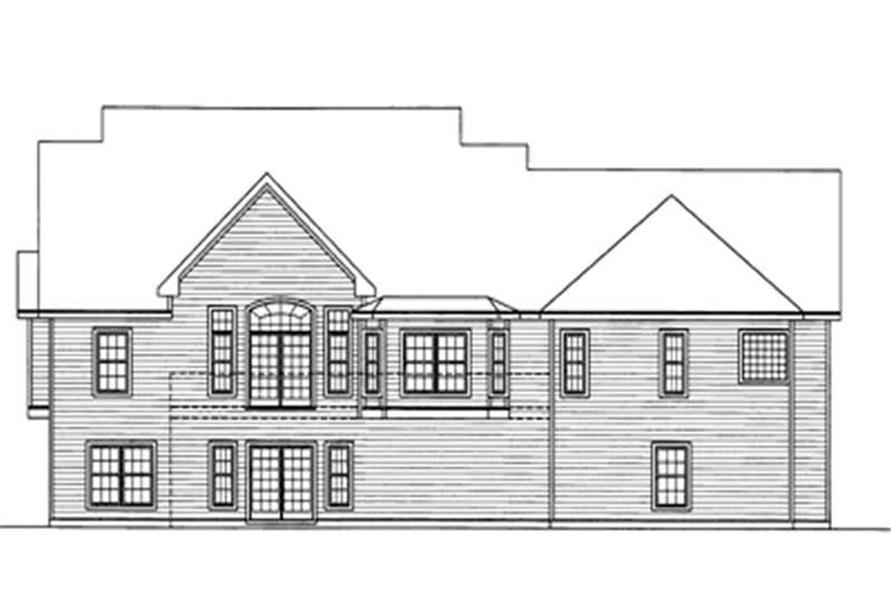Home Plan Rear Elevation of this 3-Bedroom,2144 Sq Ft Plan -172-1039