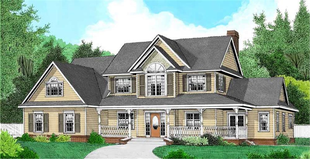 Main image for house plan # 16981