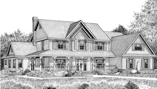 House Plan F161X Front Elevation