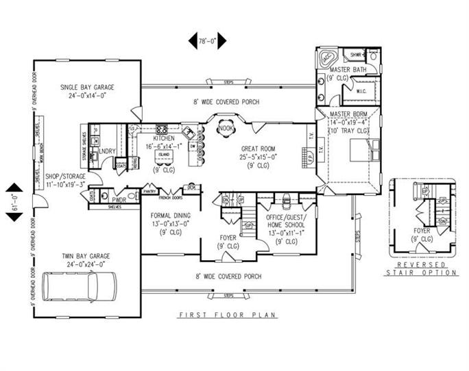 House Plan F161g3 Main Floor