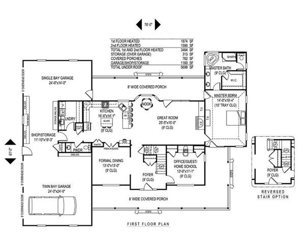 173-1007 house plan first floor
