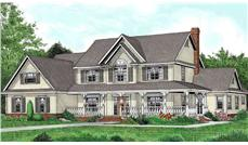 Main image for house plan # 17004