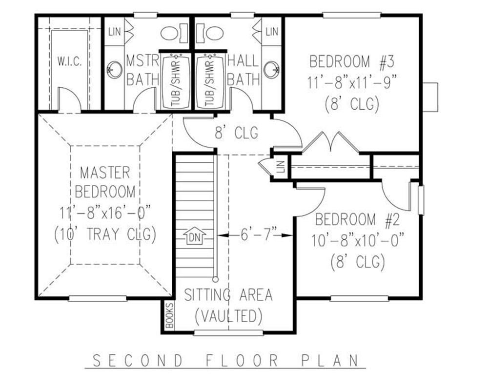 House Plan C161g3 Second Floor Plan