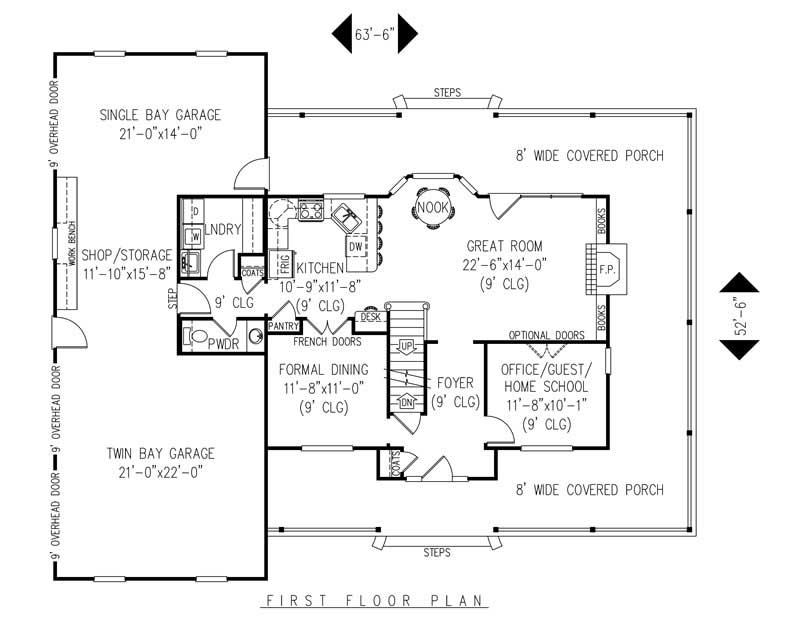 House Plan C161g3 Main Floor Plan