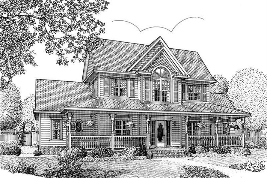 Home Plan Front Elevation of this 5-Bedroom,2571 Sq Ft Plan -173-1010