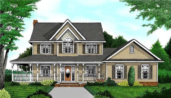 Main image for house plan # 16972