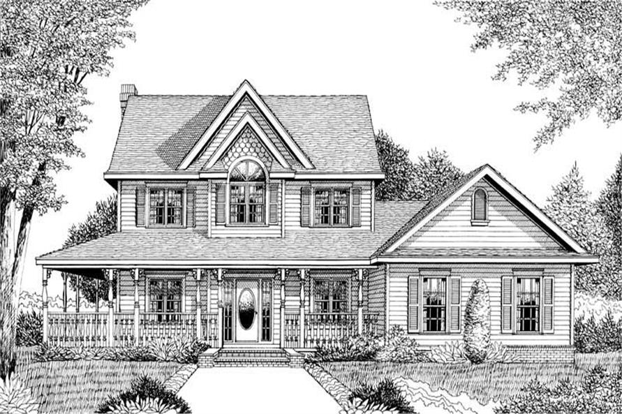 Home Plan Front Elevation of this 4-Bedroom,2457 Sq Ft Plan -173-1011
