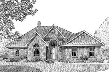 4-Bedroom, 2128 Sq Ft Contemporary Home Plan - 173-1017 - Main Exterior