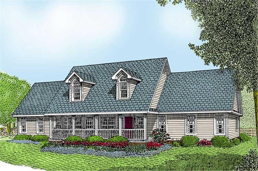3-Bedroom, 1954 Sq Ft Country Home Plan - 173-1018 - Main Exterior
