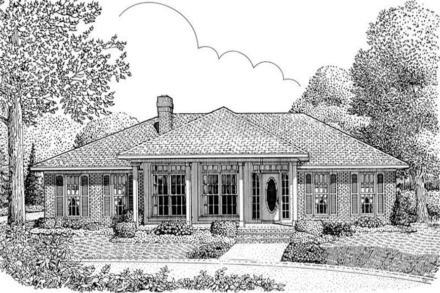 3-Bedroom, 1698 Sq Ft Contemporary Home Plan - 173-1021 - Main Exterior