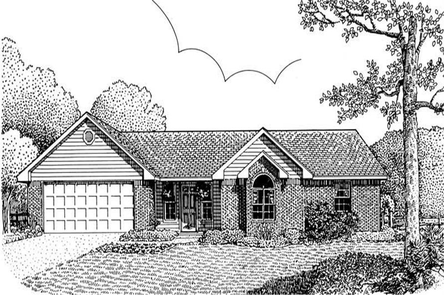 4-Bedroom, 1599 Sq Ft Contemporary Home Plan - 173-1024 - Main Exterior